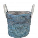 Plant basket Solero, D15cm, H12cm, sea gray